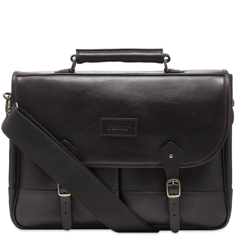 バブアー Barbour メンズ ビジネスバッグ・ブリーフケース バッグ【Leather Briefcase】Chocolate