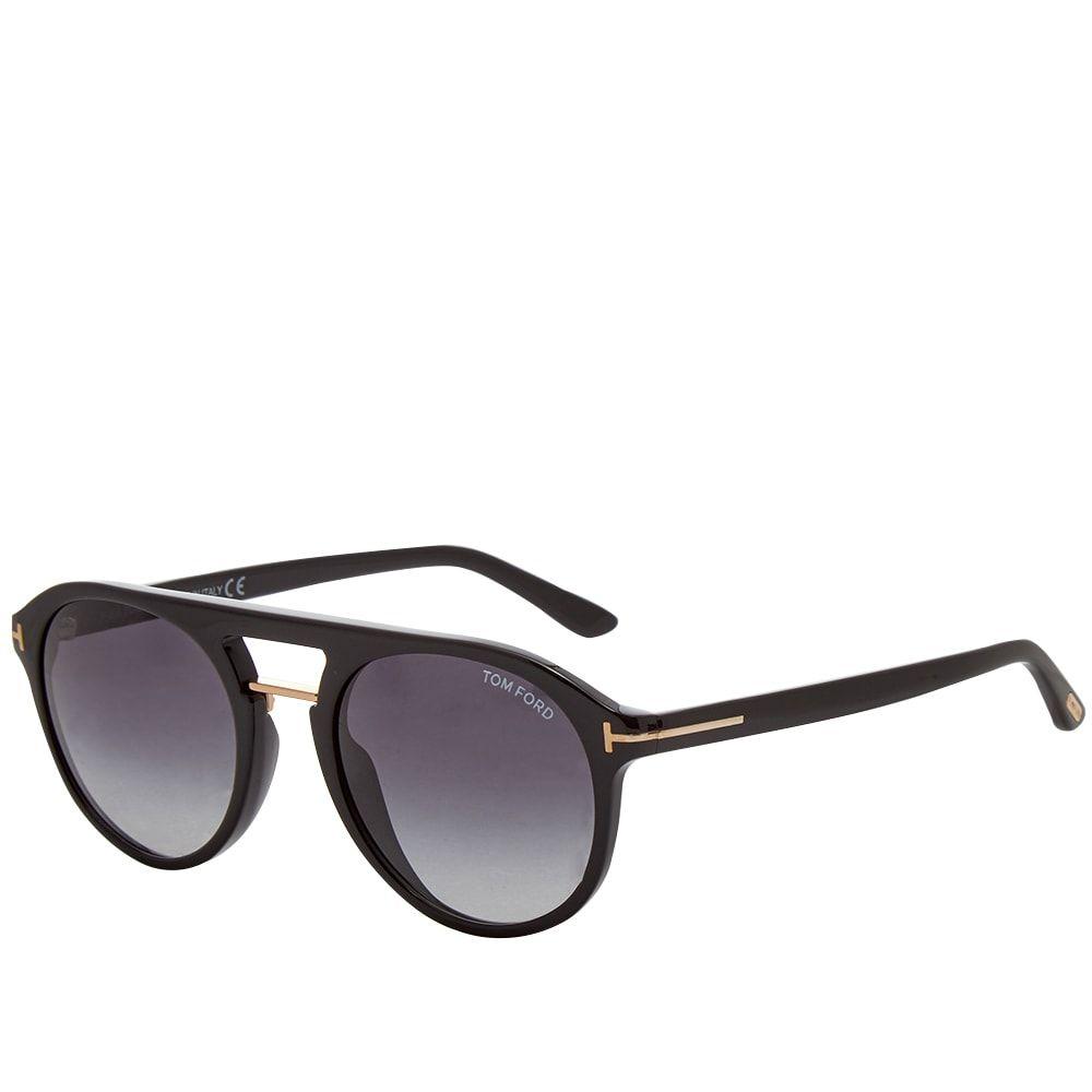 トム フォード Tom Ford Eyewear メンズ メガネ・サングラス 【Tom Ford FT0675 Ivan-02 Sunglasses】Shiny Black/Gradient Blue