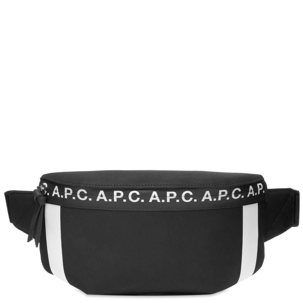 アーペーセー A.P.C. メンズ ボディバッグ・ウエストポーチ バッグ【Savile Logo Waist Bag】Black