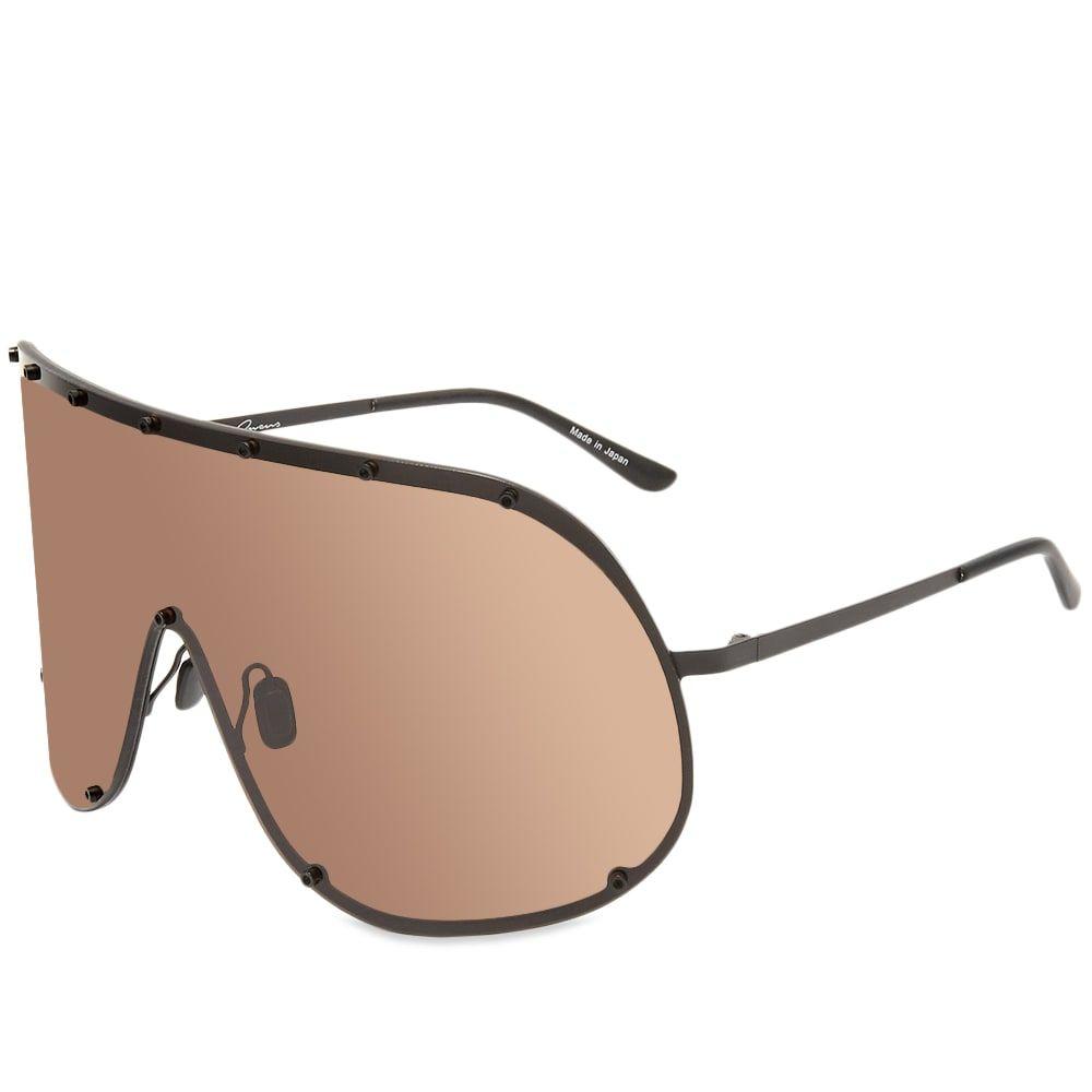 リック オウエンス Rick Owens メンズ メガネ・サングラス 【Shield Sunglasses】Black/Brown