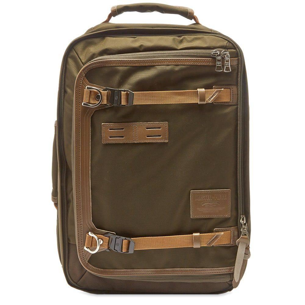 マスターピース Master-Piece メンズ バックパック・リュック バッグ【Potential Leather Trip Backpack】Olive