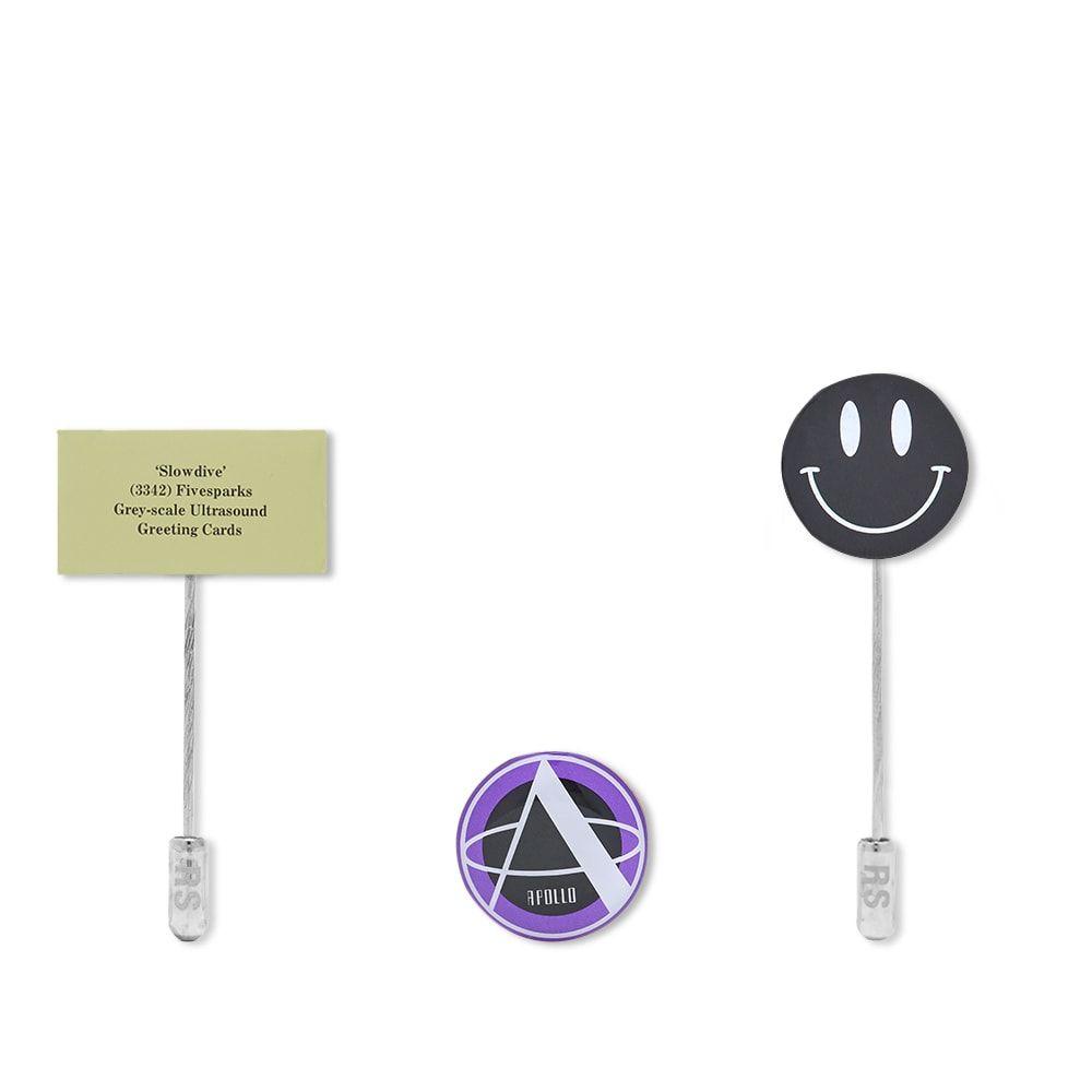 ラフ シモンズ Raf Simons メンズ ラペルピン 【Metal Pin Set B】Multi