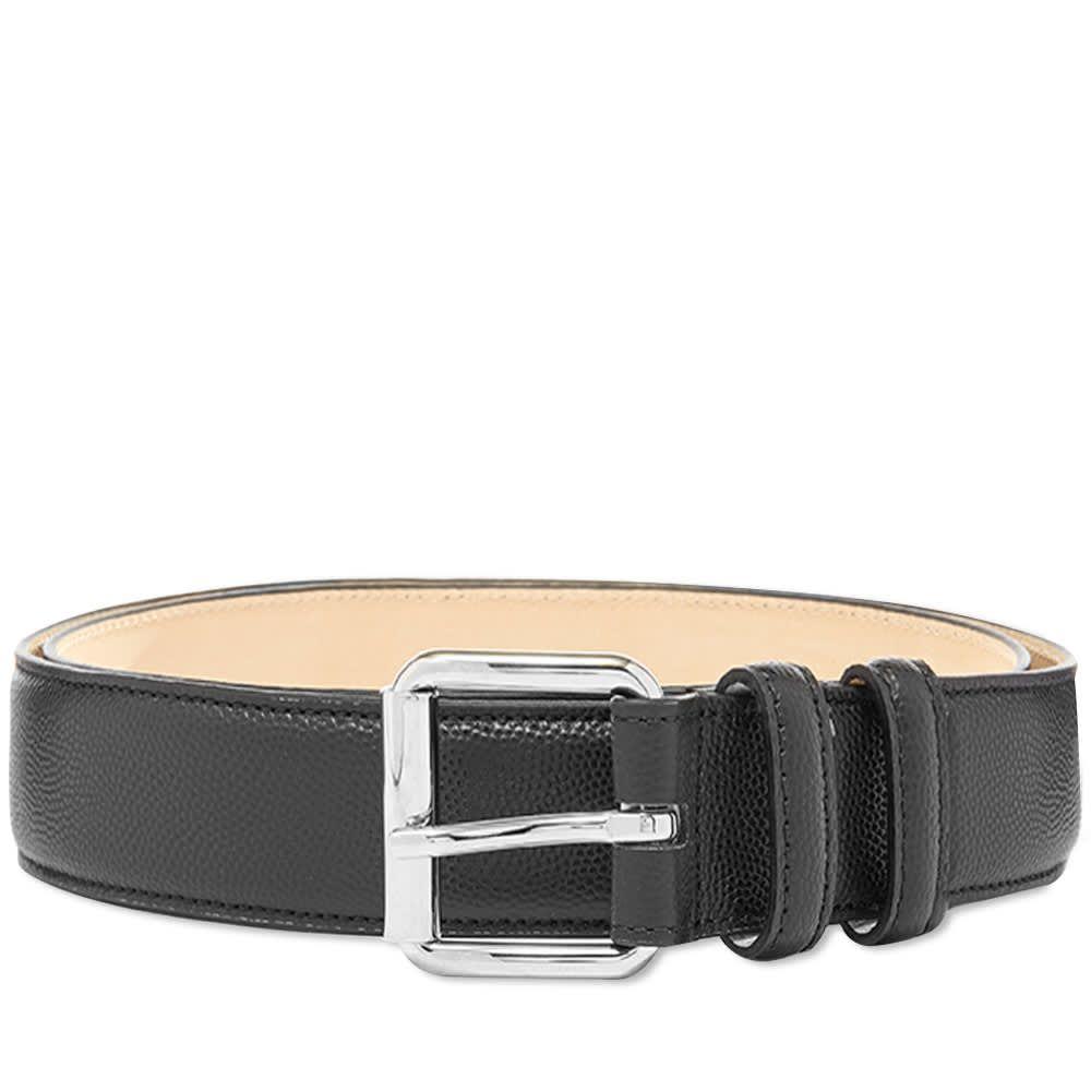 アーペーセー A.P.C. メンズ ベルト 【Classic Paris Grain Leather Belt】Black
