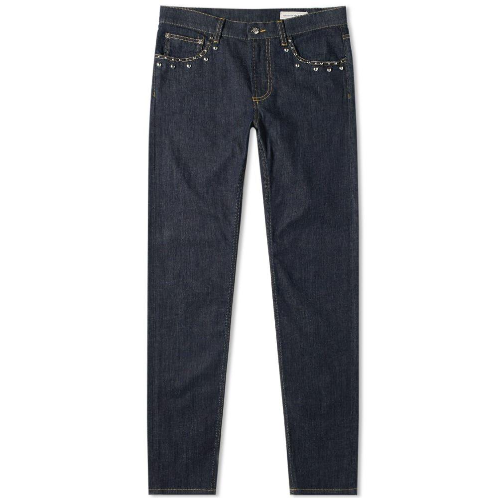 アレキサンダー マックイーン Alexander McQueen メンズ ジーンズ・デニム ボトムス・パンツ【Studded Denim Pocket Jean】Indigo