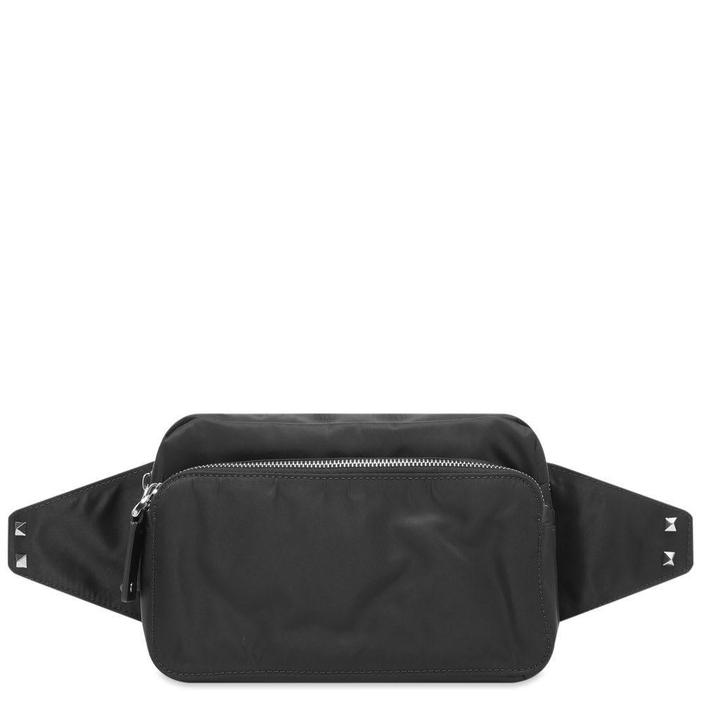 ヴァレンティノ Valentino メンズ ボディバッグ・ウエストポーチ バッグ【VLTN L Nylon Waist Bag】Black