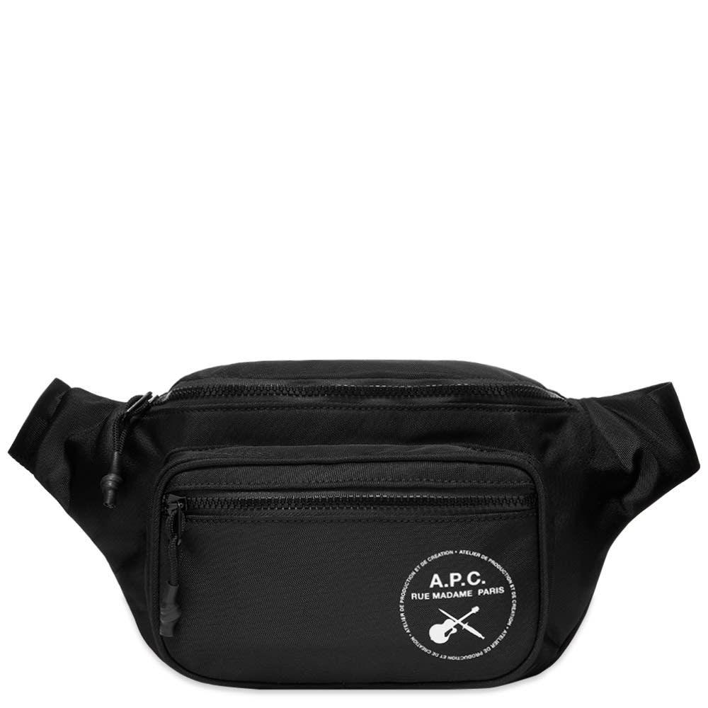 アーペーセー A.P.C. メンズ ボディバッグ・ウエストポーチ バッグ【Guitar Logo Waist Bag】Black
