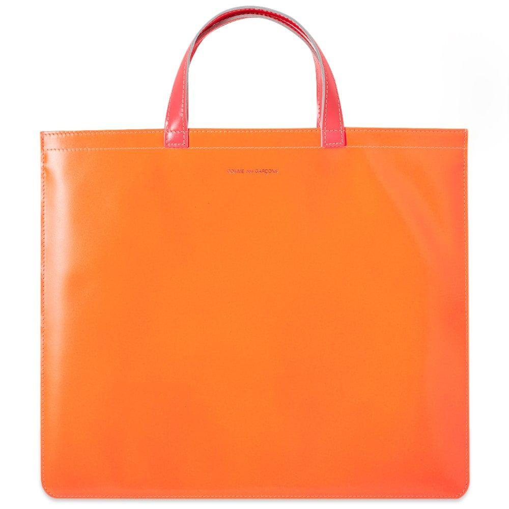 コムデギャルソン Comme des Garcons Wallet メンズ トートバッグ バッグ【Comme des Garcons Super Fluro Leather Tote Bag】Yellow/Orange