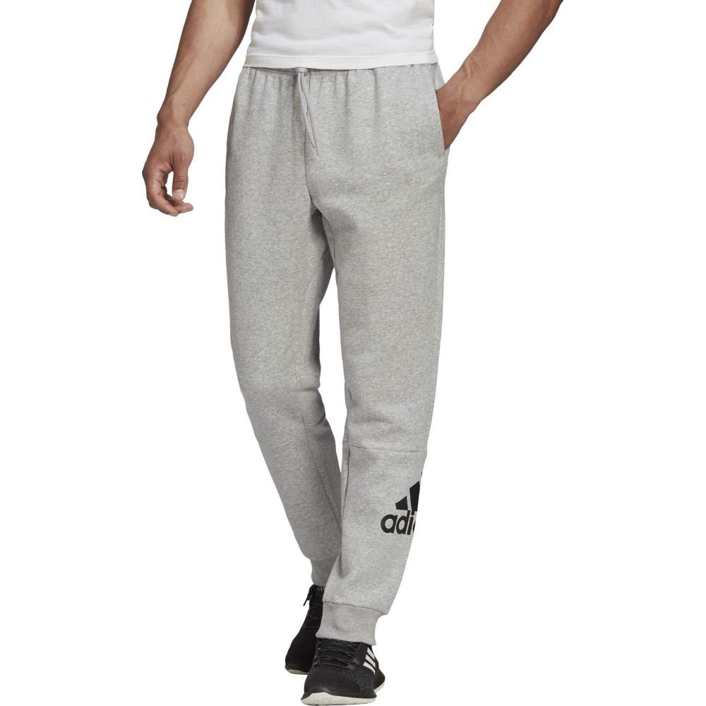 adidas Pants】Medium Sport Grey Heather/Black メンズ ボトムス・パンツ Badge of Have アディダス Fleece 【Must