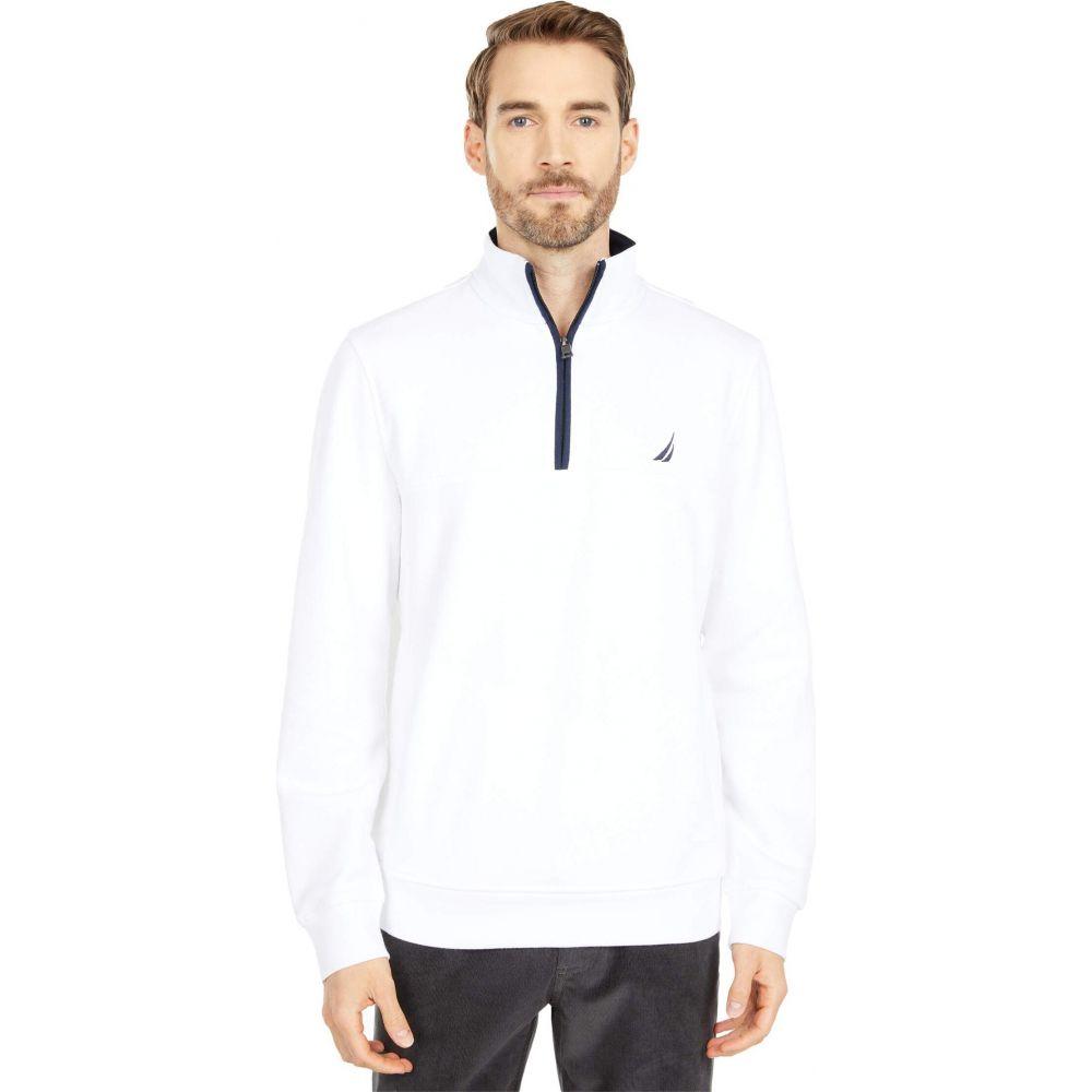 期間限定今なら送料無料 ノーティカ メンズ トップス ニット セーター 購入 Bright White Zip Nautica Sweater Knit サイズ交換無料 1 4