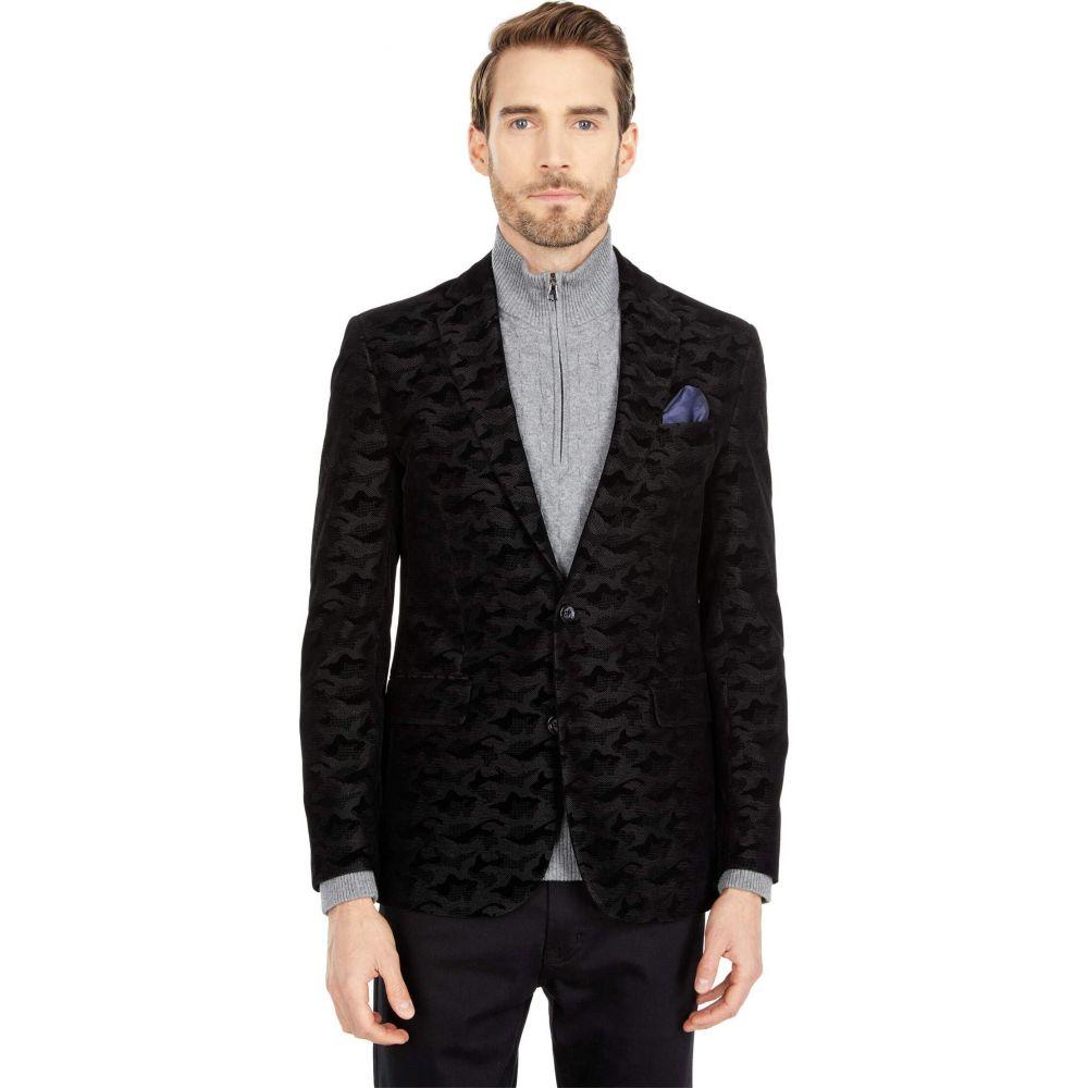 【★安心の定価販売★】 ロバートグラハム Robert Graham メンズ スーツ・ジャケット アウター【Hoyle Woven Sport Coat Blazer】Black, こだわりの和雑貨 和敬静寂 0129e3d1