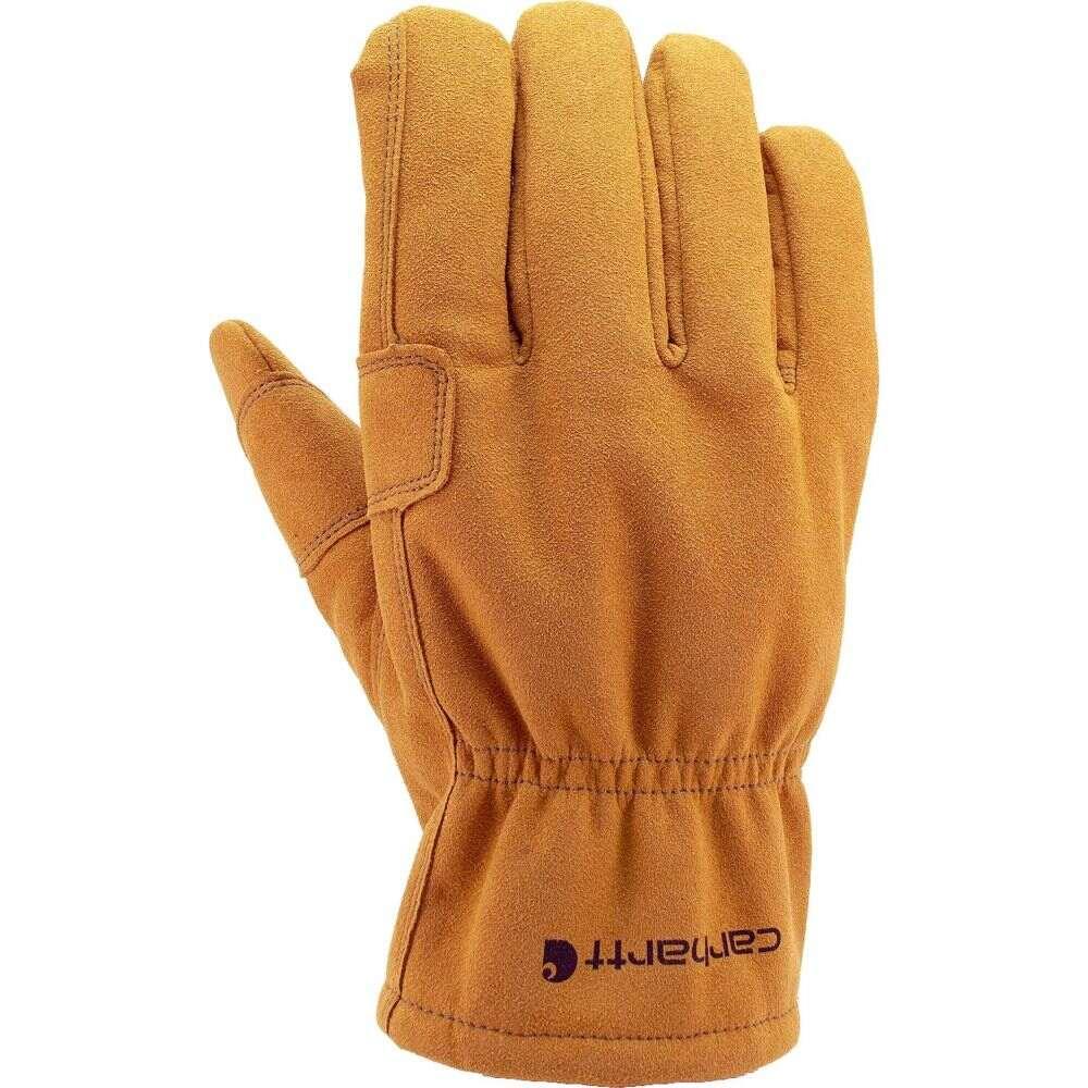 カーハート メンズ ファッション小物 手袋 グローブ 信頼 大決算セール Brown Leather Glove Fencer サイズ交換無料 Carhartt
