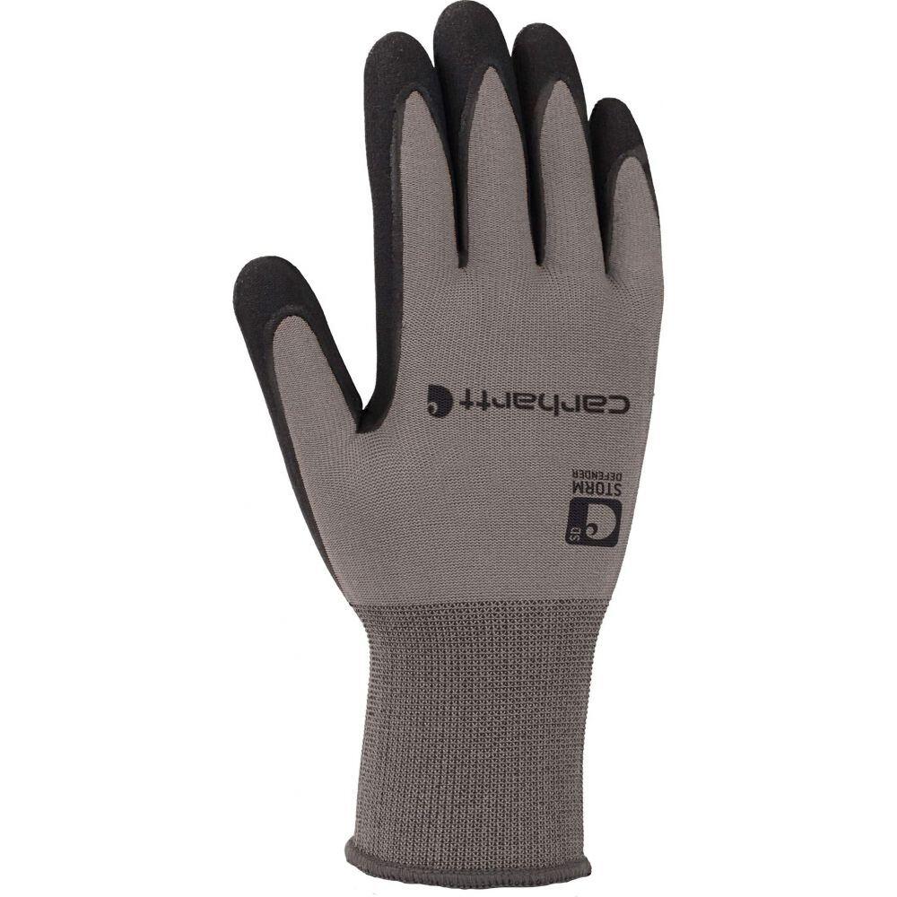 カーハート メンズ ファッション小物 贈物 手袋 グローブ Gray サイズ交換無料 Carhartt Waterproof Thermal Nitrile Wb Glove 人気海外一番 Grip Breathable