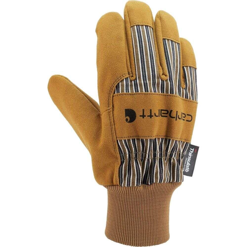 カーハート メンズ ファッション小物 手袋 内祝い グローブ 期間限定で特別価格 Brown サイズ交換無料 Carhartt Insulated Work Glove System Cuff With Suede 5 Knit