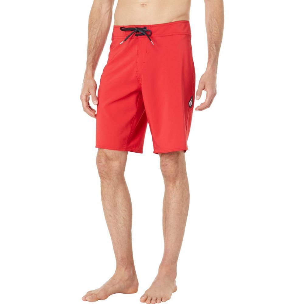 ボルコム メンズ 公式 ファクトリーアウトレット 水着 ビーチウェア 海パン Ribbon Red サイズ交換無料 Volcom サーフパンツ Solid Boardshorts 20' Mod Lido