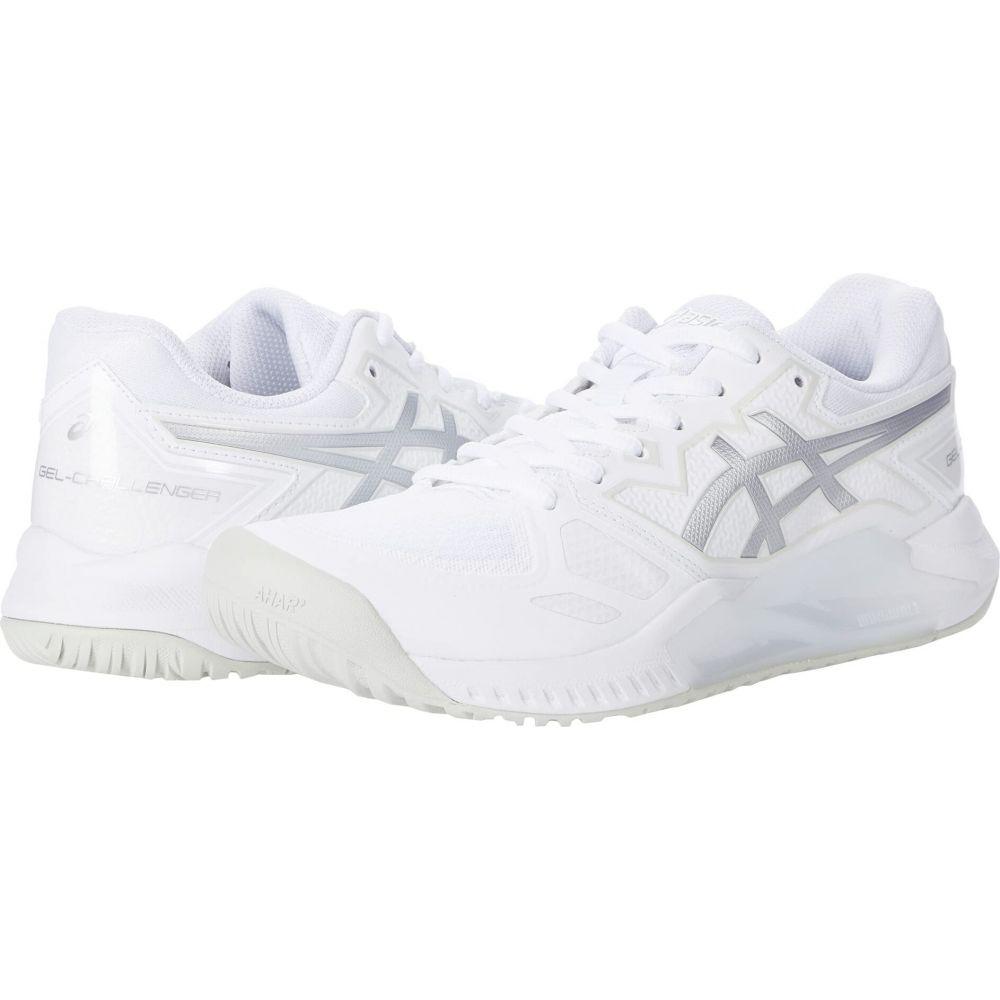 アシックス トレンド レディース テニス シューズ 靴 お得なキャンペーンを実施中 White ASICS 13 Silver サイズ交換無料 GEL-Challenger Pure
