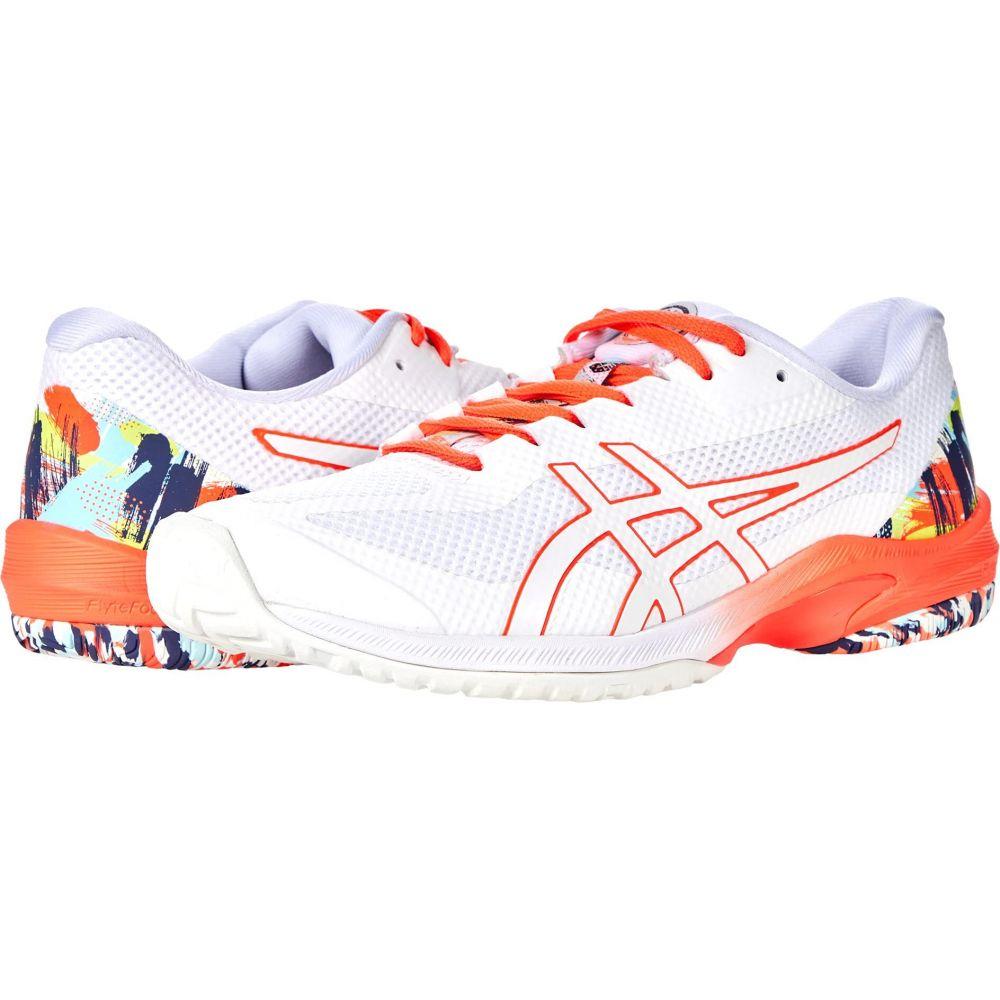 アシックス 新入荷 流行 レディース テニス シューズ 靴 White Sunrise 正規逆輸入品 Red FF ASICS Court サイズ交換無料 Speed