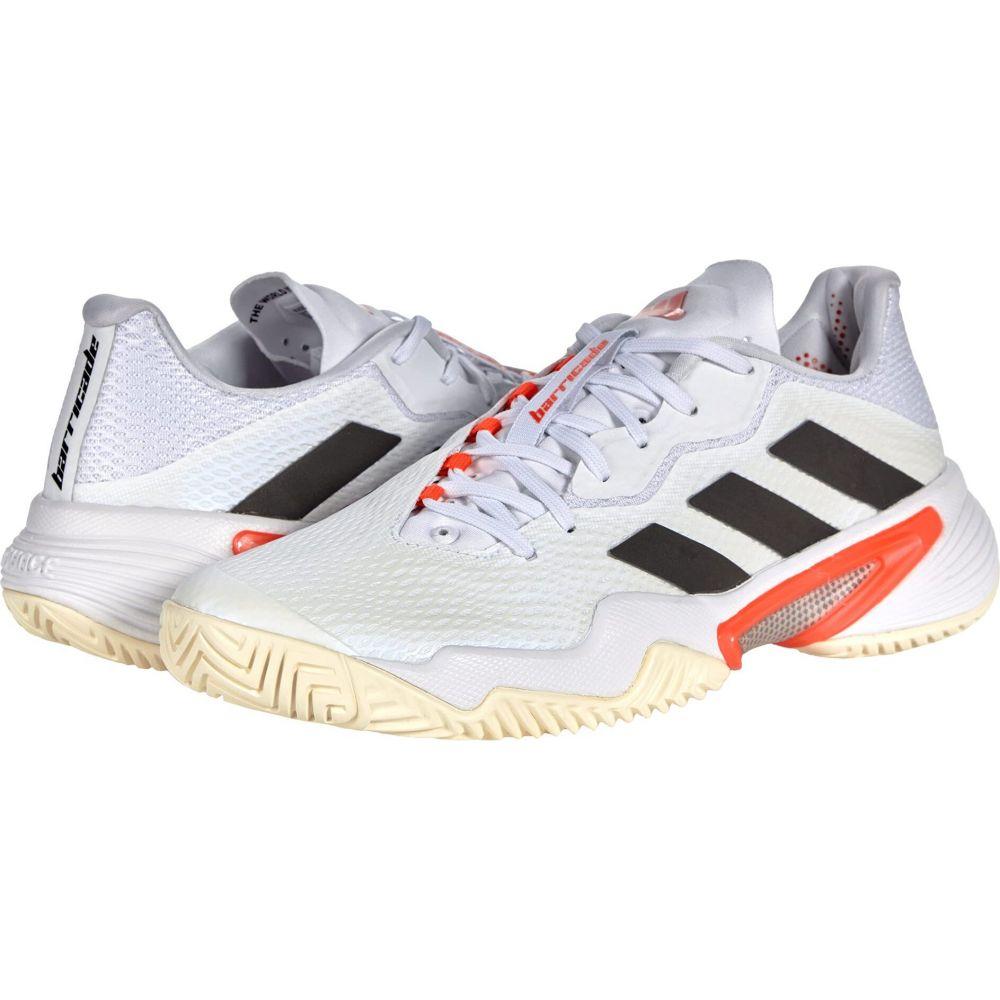 アディダス レディース テニス シューズ 靴 White Black Solar Shoes Red 12 Barricade adidas 訳ありセール 格安 サイズ交換無料 出色 Tennis