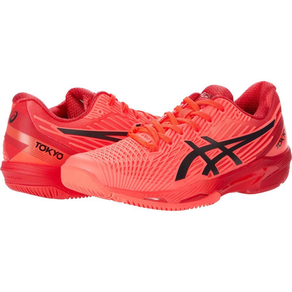 全商品オープニング価格 アシックス レディース テニス 誕生日プレゼント シューズ 靴 Sunrise Red Eclipse サイズ交換無料 Speed Black FF ASICS Solution 2