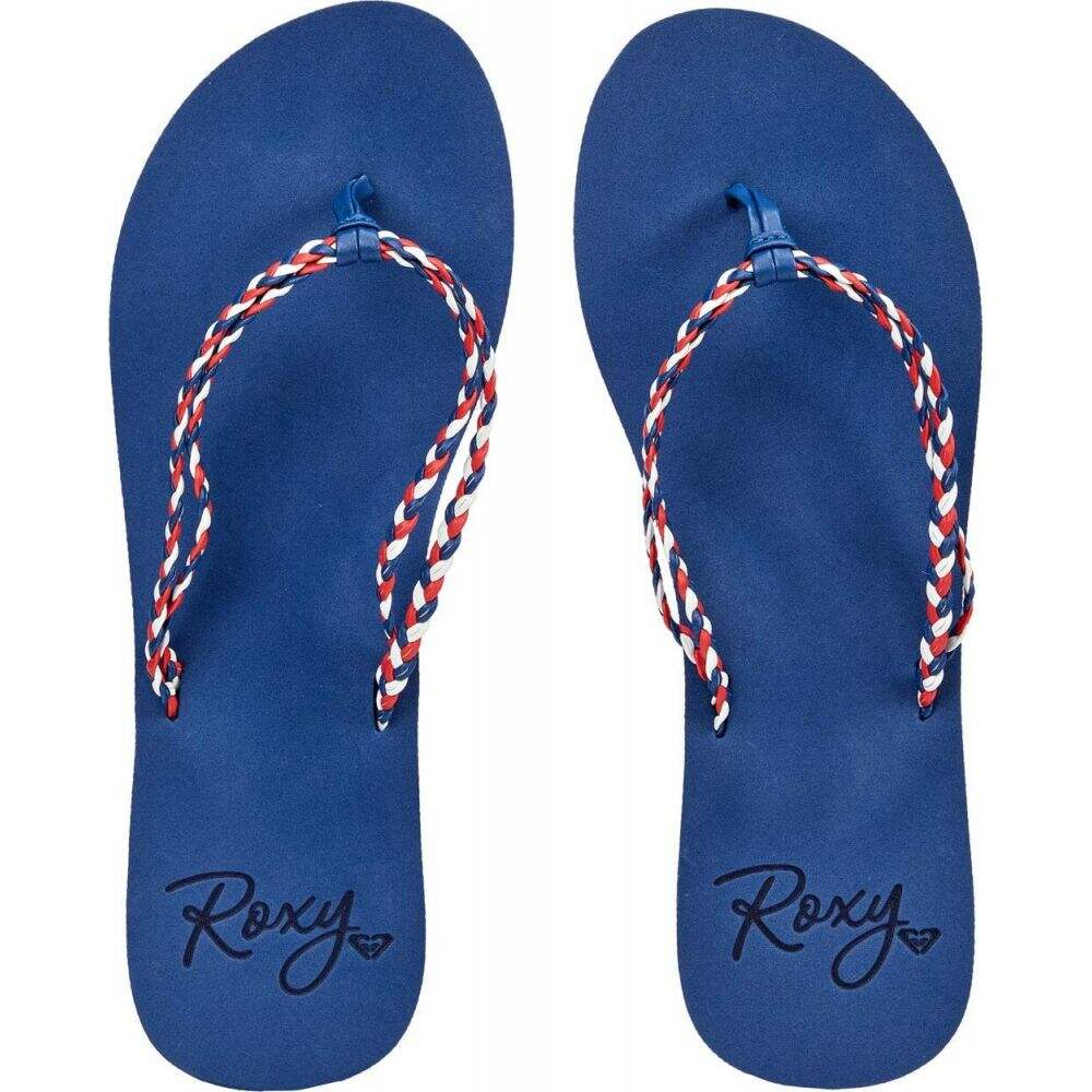 ロキシー 直営店 レディース シューズ 靴 ビーチサンダル Dark サイズ交換無料 Cabo Costas 感謝価格 Navy Roxy
