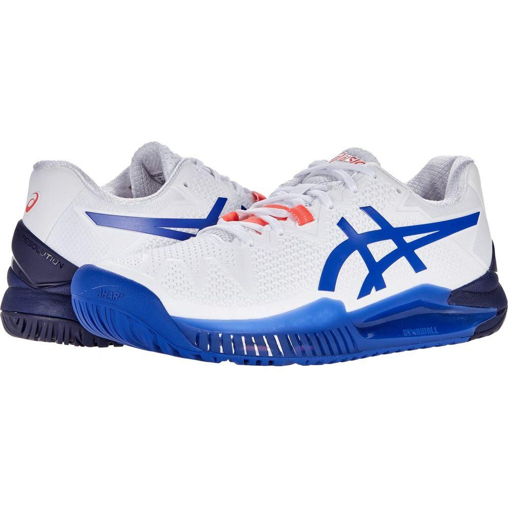 アシックス レディース テニス シューズ 靴 White Lapis Blue ASICS Lazuli サイズ交換無料 Gel-Resolution 8 海外 新作続