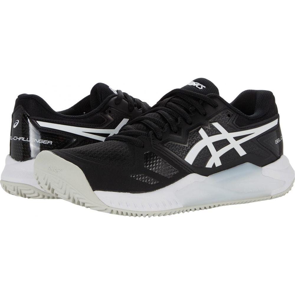 アシックス レディース 格安店 テニス シューズ 靴 Black サイズ交換無料 GEL-Challenger 13 ASICS 安心の実績 高価 買取 強化中 Clay White