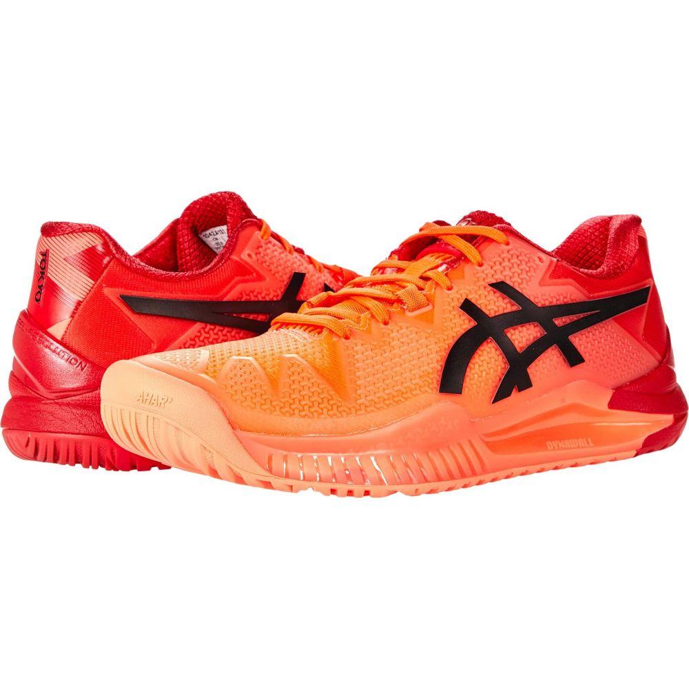 アシックス レディース テニス シューズ 靴 Sunrise Red 上質 サイズ交換無料 Black 8 お求めやすく価格改定 Eclipse ASICS Gel-Resolution