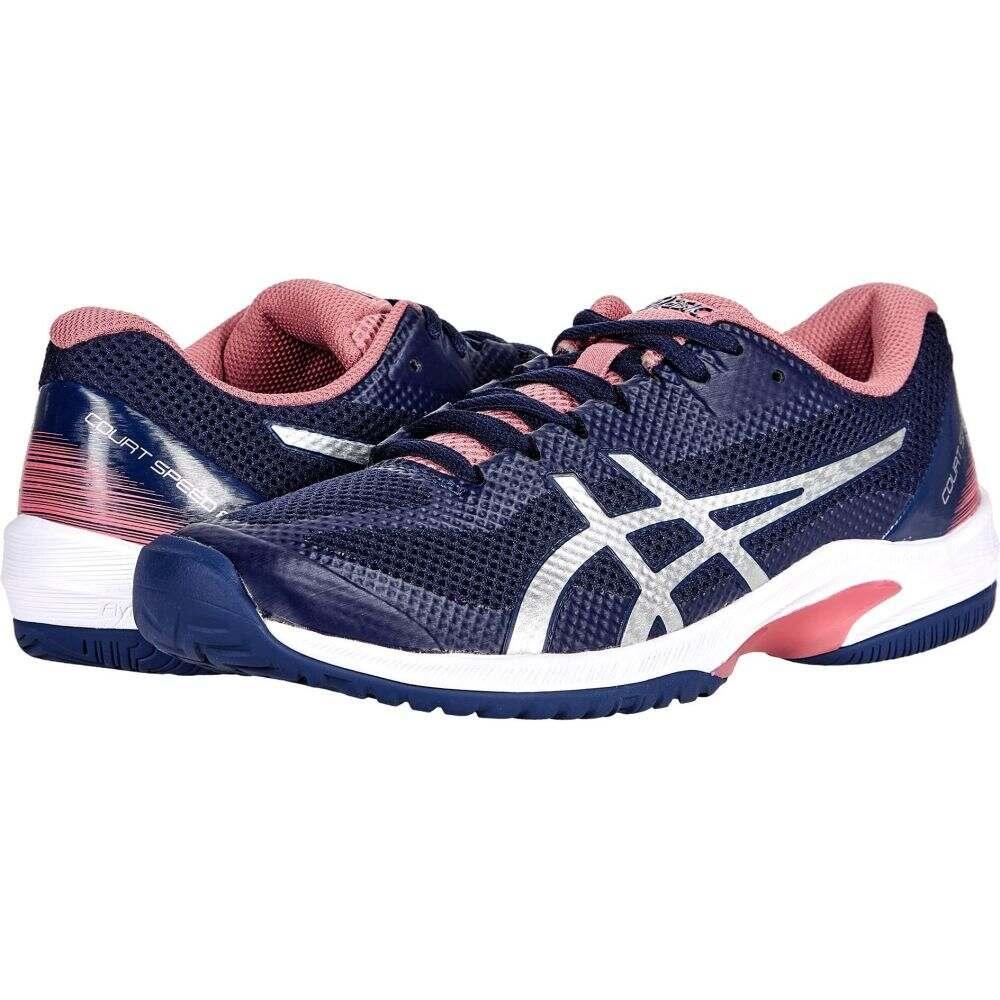 アシックス レディース テニス シューズ 靴 お求めやすく価格改定 Peacoat Pure 100%品質保証! ASICS Court Silver FF Speed サイズ交換無料