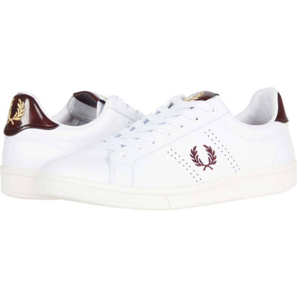フレッドペリー レディース テニス シューズ 大幅値下げランキング 靴 White Tab Fred B721 サイズ交換無料 Leather ファクトリーアウトレット Perry