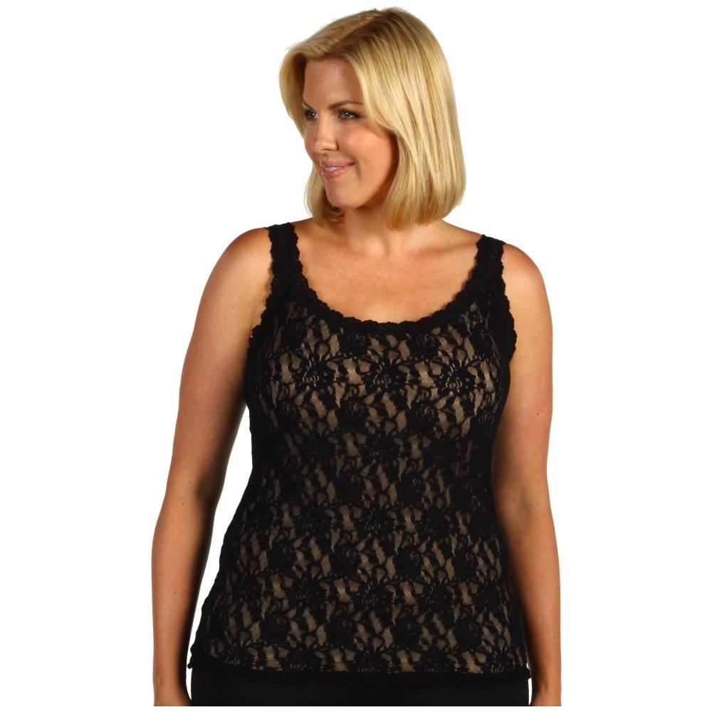 ハンキーパンキー レディース インナー・下着 スリップ・キャミソール【Plus Size Signature Lace Unlined Cami】Black