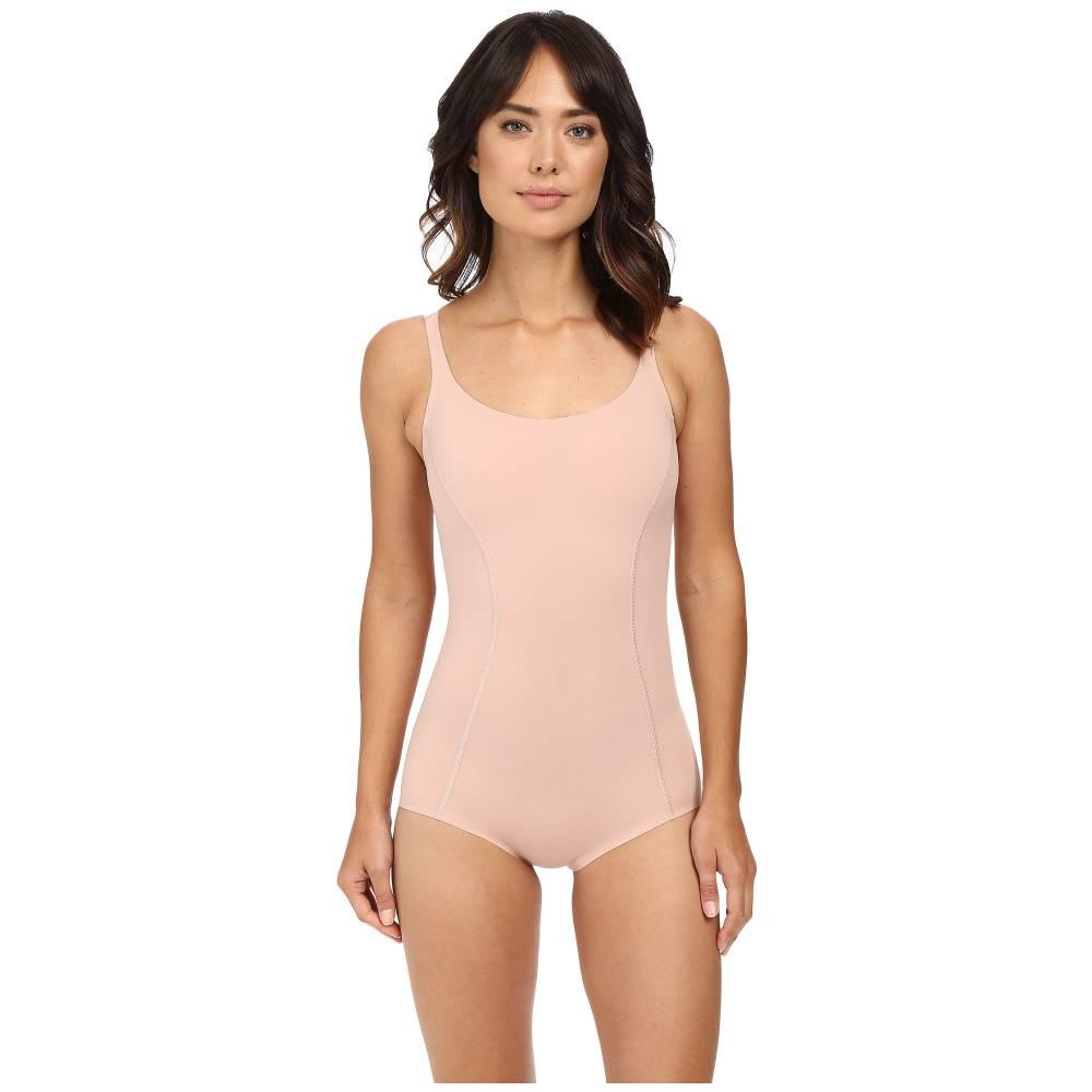 ウォルフォード レディース トップス タンクトップ【Cotton Contour Forming Bodysuit】Rose Tan