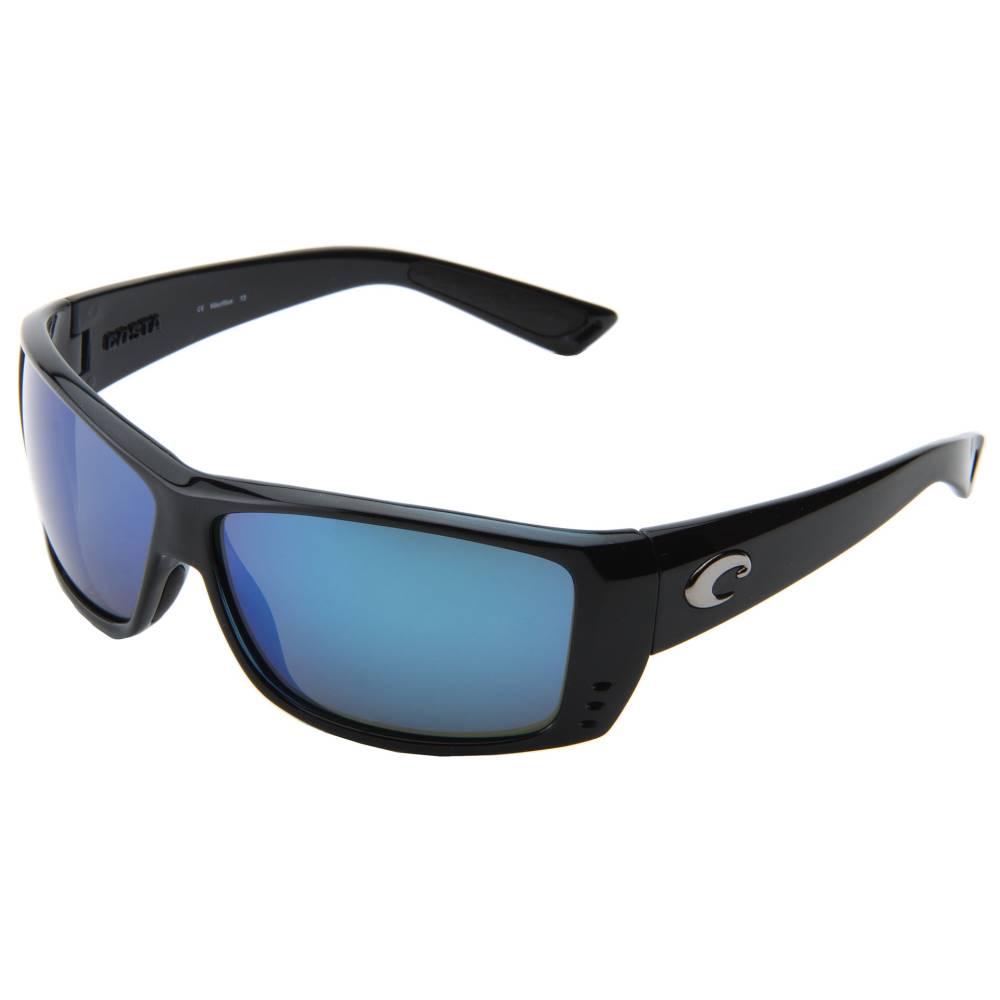 コスタ メンズ ファッション小物 スポーツサングラス【Cat Cay 580 Mirror Glass】Black/Blue Mirror 580 Glass Lens