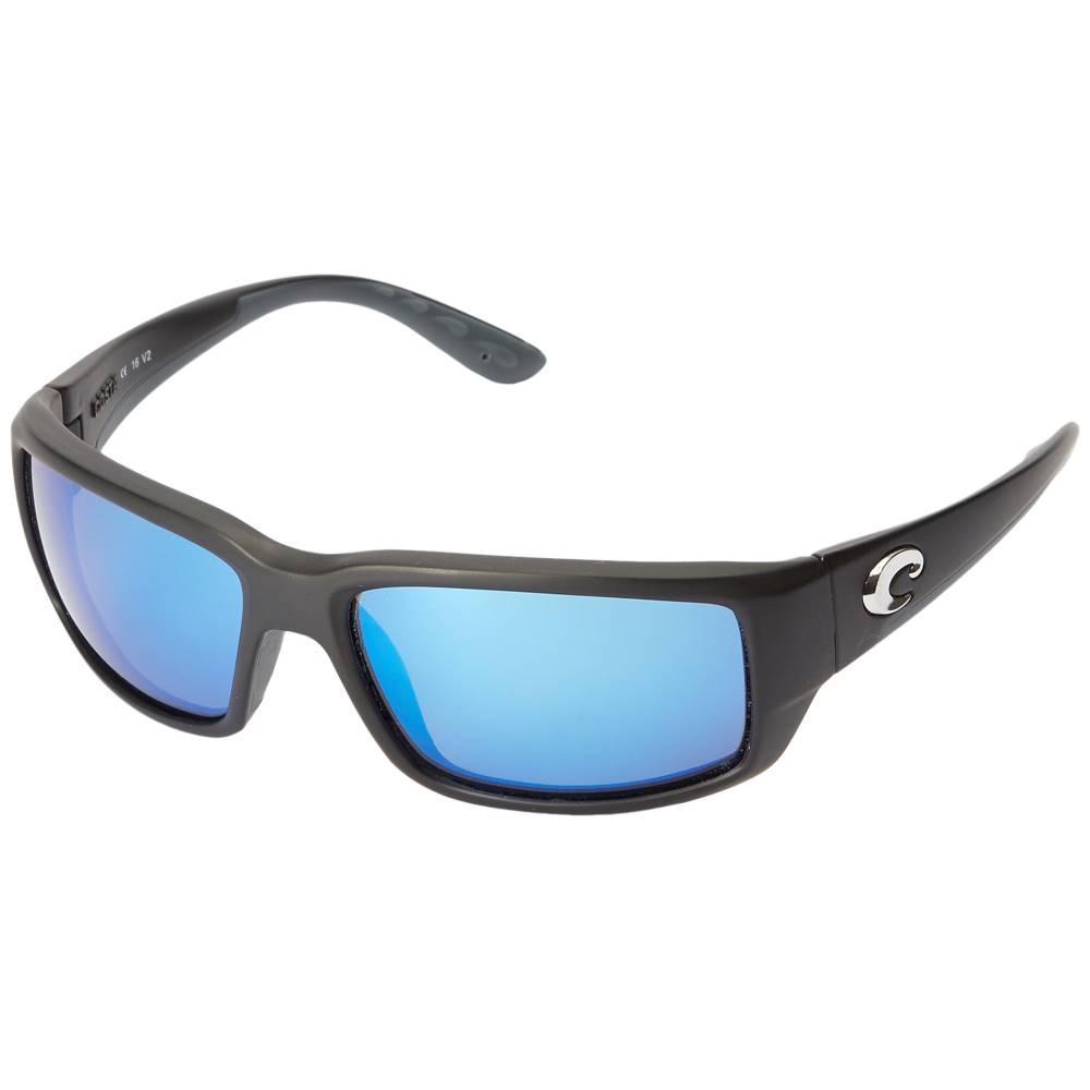 コスタ メンズ ファッション小物 スポーツサングラス【Fantail 580 Mirror Glass】Black/Blue Mirror 580 Glass Lens