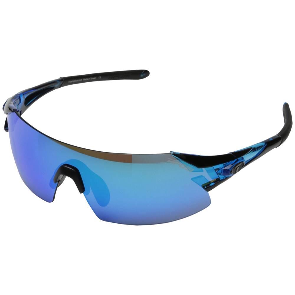 ティフォージ メンズ ファッション小物 スポーツサングラス【Podium' XC Mirrored Interchangeable】Crystal Blue/Clarion Blue/AC Red/Clear Lens