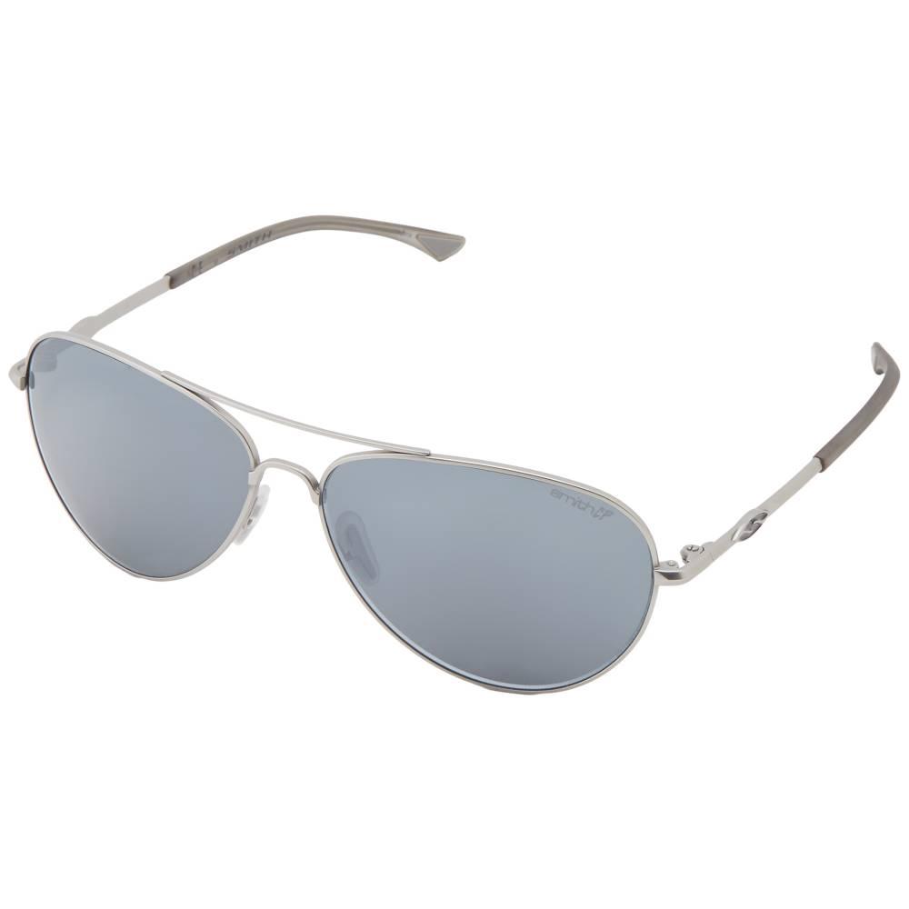 スミス オプティクス メンズ ファッション小物 スポーツサングラス【Audible】Matte Silver Frame/Polar Platinum Chromapop Lenses