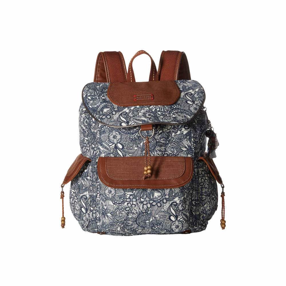 サックルーツ レディース バッグ バックパック・リュック【Sakroots Artist Circle Flap Backpack】Navy Spirit Desert