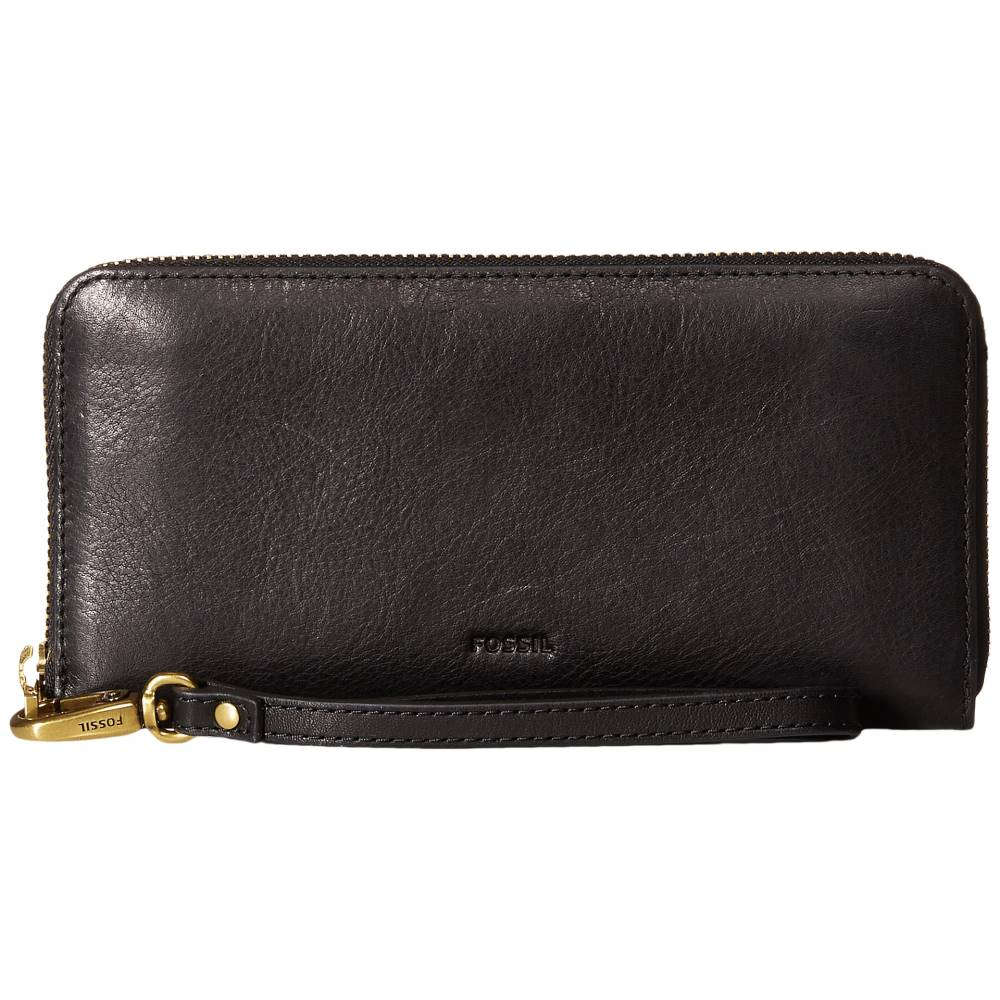 フォッシル レディース バッグ クラッチバッグ【Emma Large Zip Clutch RFID】Black