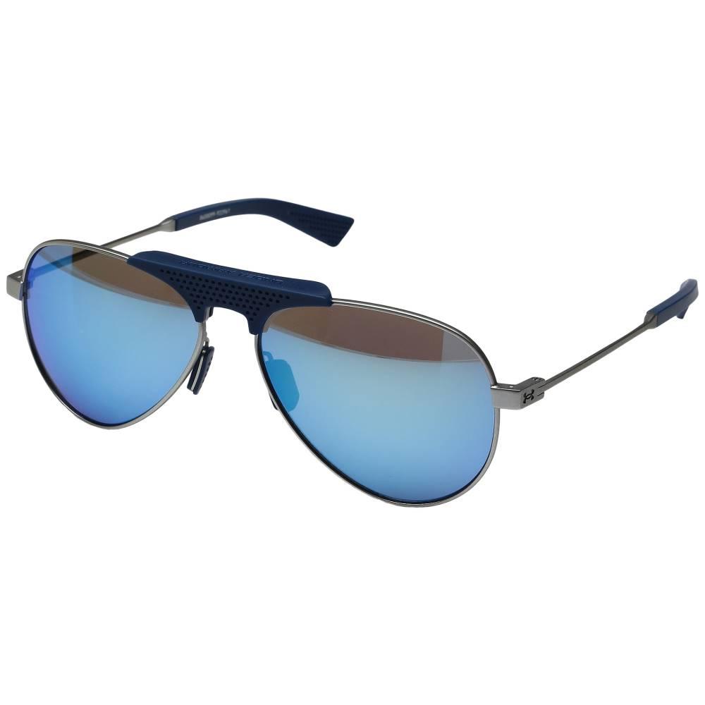 アンダーアーマー メンズ ファッション小物 スポーツサングラス【Getaway】Satin Silver/Navy Frame/Gray/Blue Multiflection Lens