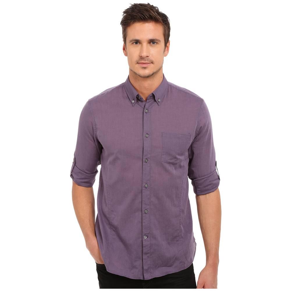 ジョン バルベイトス メンズ トップス【Roll Up Sleeve Shirt w/ Button-Down Collar Single Pocket】Mulberry