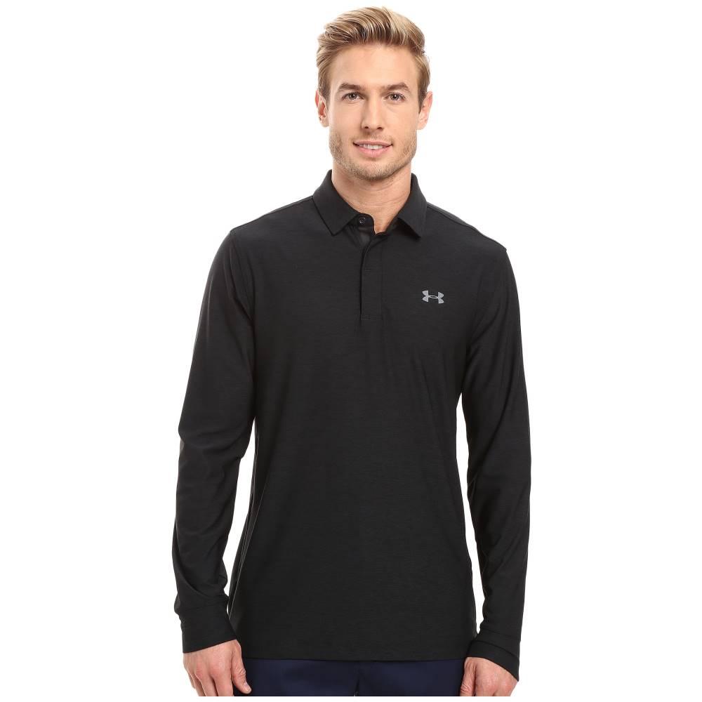 a996b3907065 アンダーアーマー メンズ トップス ポロシャツ【Long Sleeve Polo】Black/Graphite/Graphite