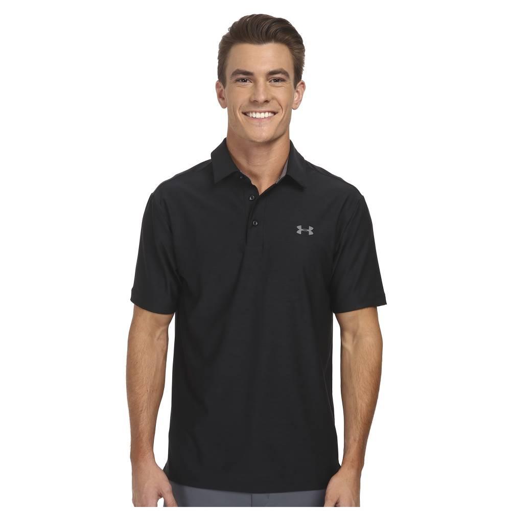 アンダーアーマー メンズ トップス ポロシャツ【UA Playoff Polo】Black/Graphite/Graphite