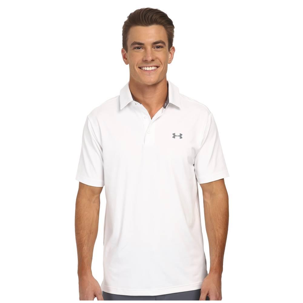 アンダーアーマー メンズ トップス ポロシャツ【UA Playoff Polo】White/Graphite/Graphite