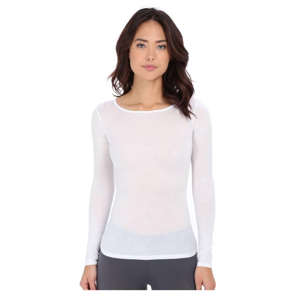 ハンロ レディース トップス Tシャツ【Ultralight Long Sleeve Top】White