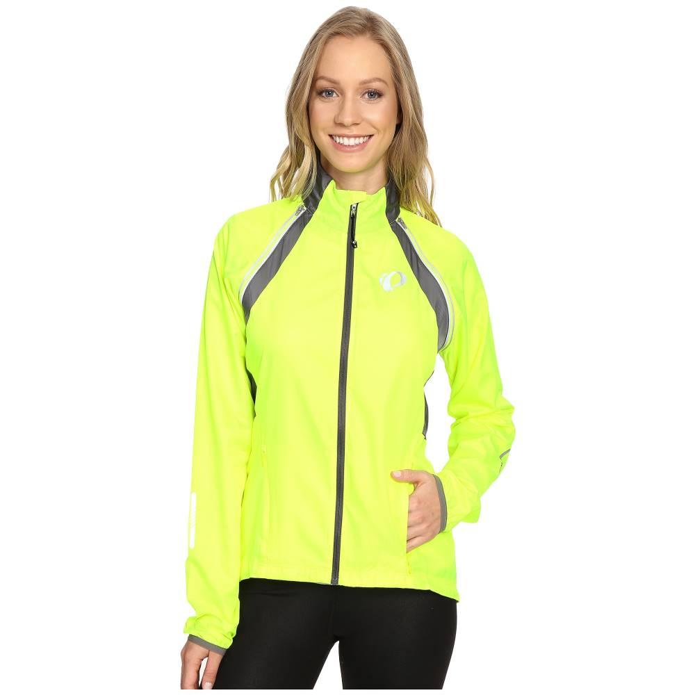 パールイズミ レディース 自転車 アウター【W ELITE Barrier Convertible Cycling Jacket】Screaming Yellow/Smoked Pearl