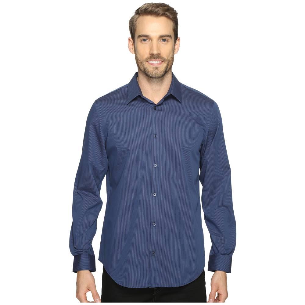 カルバンクライン メンズ トップス シャツ【Long Sleeve Infinite Cool Button Down Stripe Shirt】Atlantis
