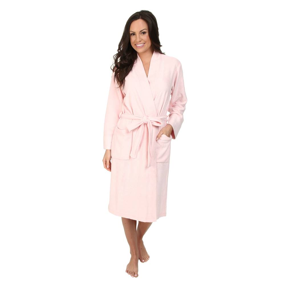 ナトリ レディース インナー・下着 ガウン・バスローブ【N Natori Brushed Terry Nirvana Robe】Solid Blush Pink