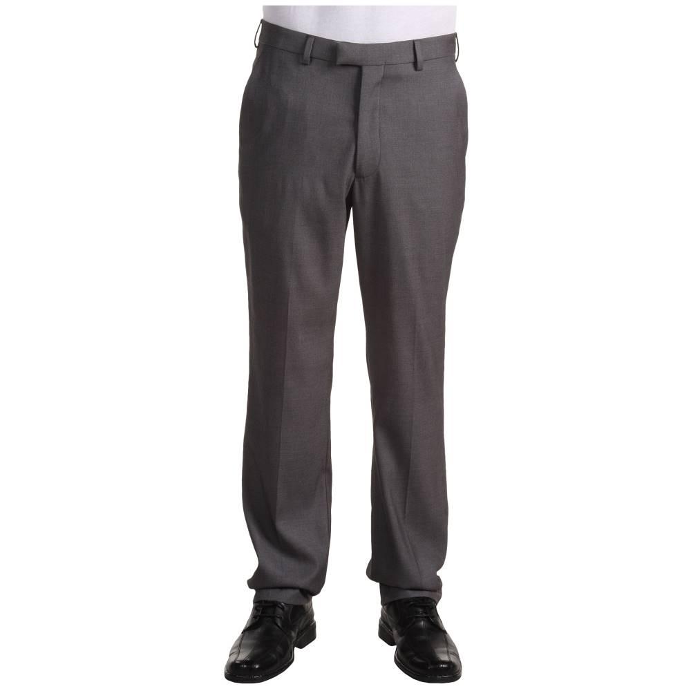 ペリー エリス メンズ ボトムス・パンツ【Modern Fit Flat Front Bengaline Pant】Fog Heather