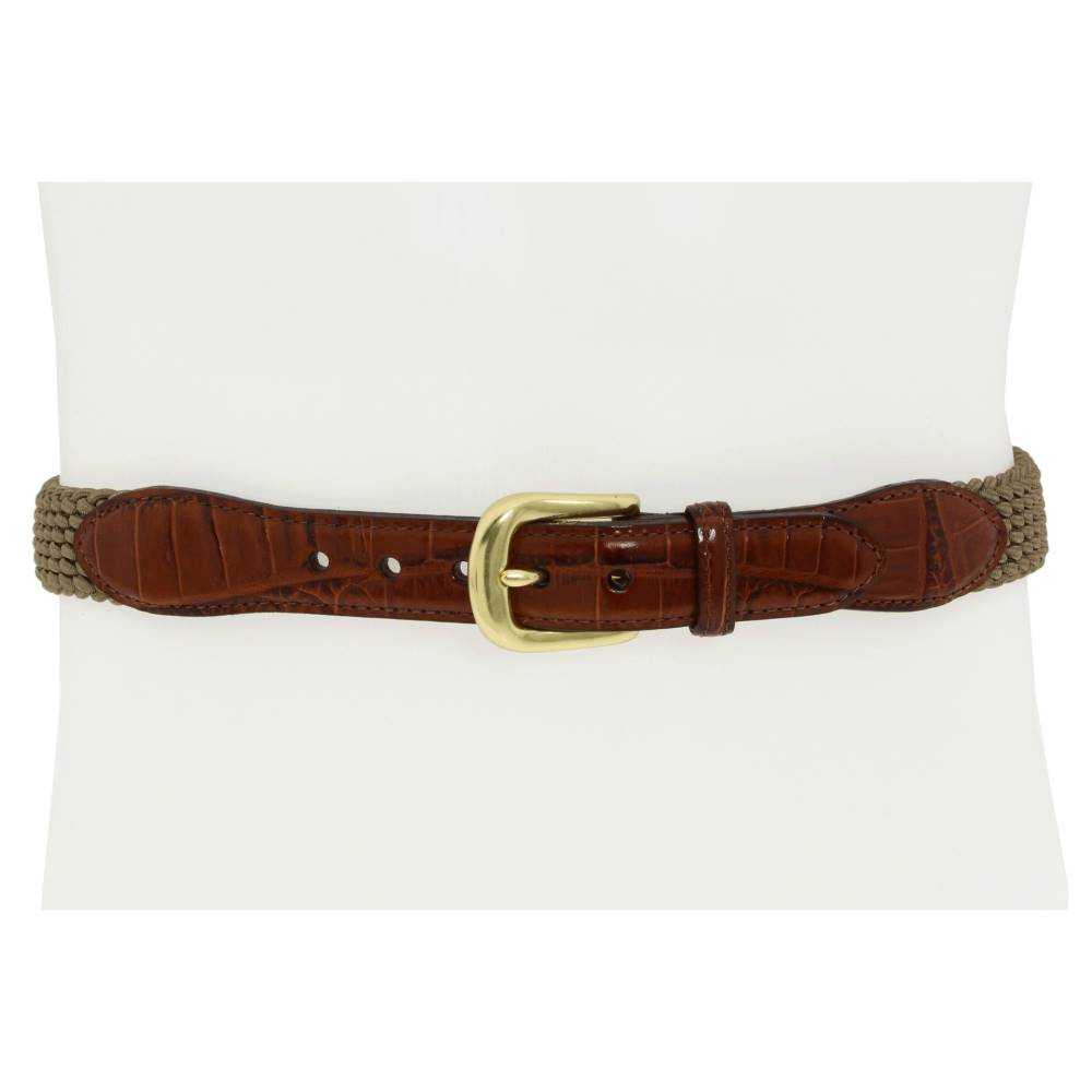 ブライトン メンズ ファッション小物 ベルト【Elastic Cord Croco Tab Taper Belt】Khaki