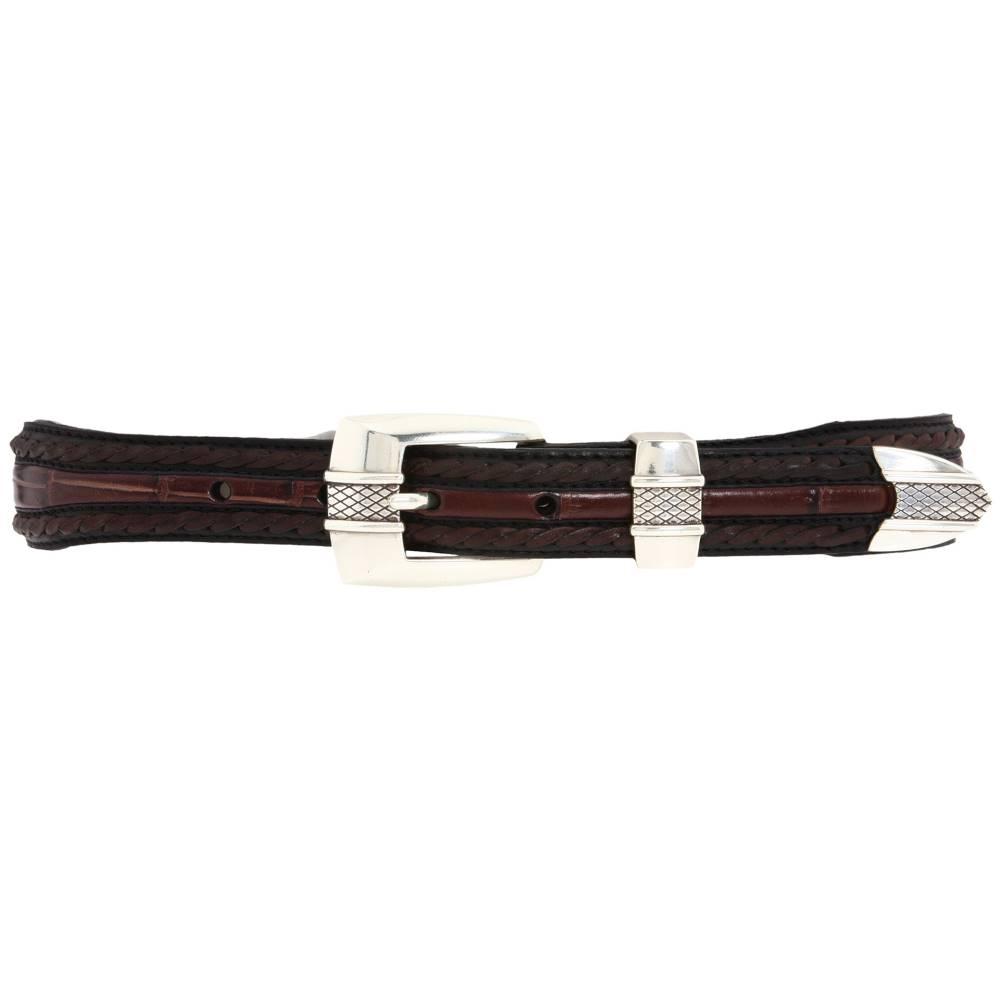 7a88e8f4e31e ブライトン メンズ ファッション小物 ベルト【Porto Fino Taper Belt】Black/Chocolate