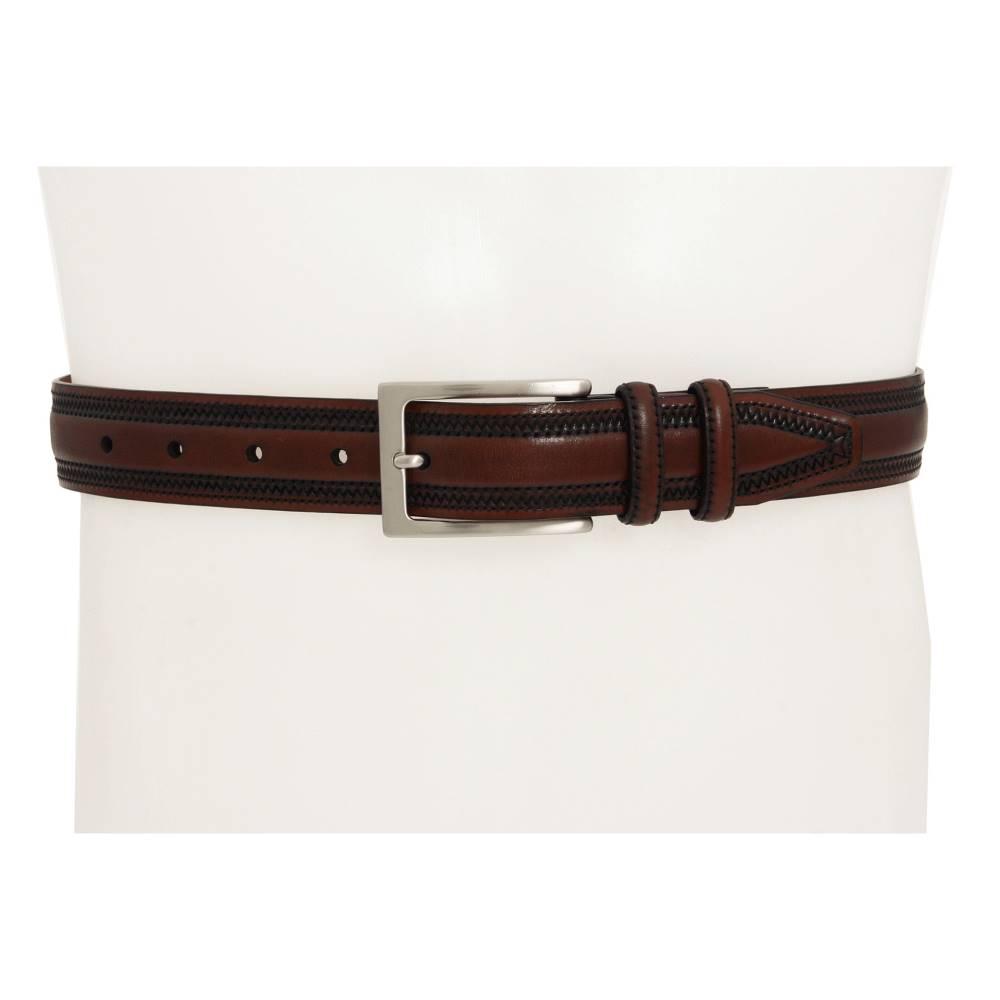 ジョンストン&マーフィー メンズ ファッション小物 ベルト【Double-Pinked Belt】Chestnut