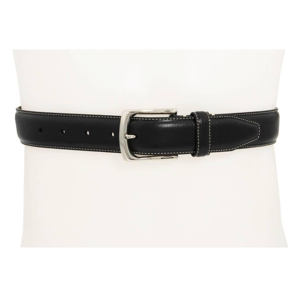 ジョンストン&マーフィー メンズ ファッション小物 ベルト【Topstitched Belt】Black